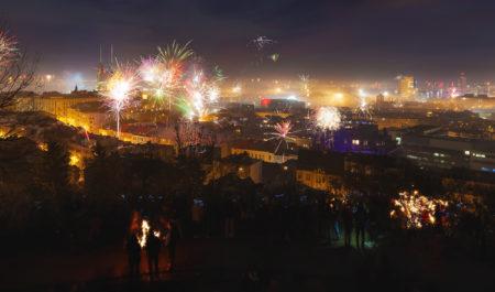 Roman Kozák | fotograf | Novoroční ohňostroje | Ohnostroj 2018 Brno